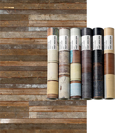 Wall covering that mimics wood adorn the abode s walls - Faux wood plank wallpaper ...