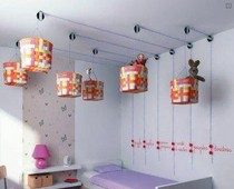 baskets used as light shades