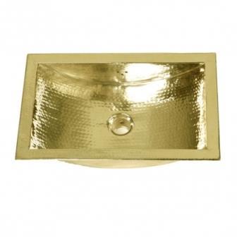 Brass Sink : ... TRB Specialty Metals Hand Hammered Brass Trough Bathroom Sink
