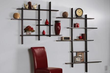 simple wooden shelf design