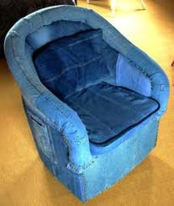 denim chair, recycledelight