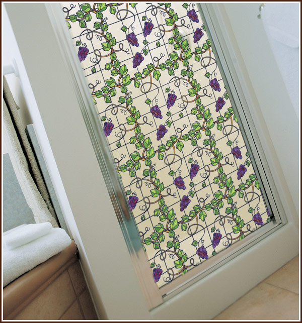 Privacy plus beauty equals wallpapered windows for the for 1 plus 1 equals window