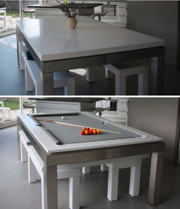 Transformer Tables Turn Dining Into Billiard And Ping Pong