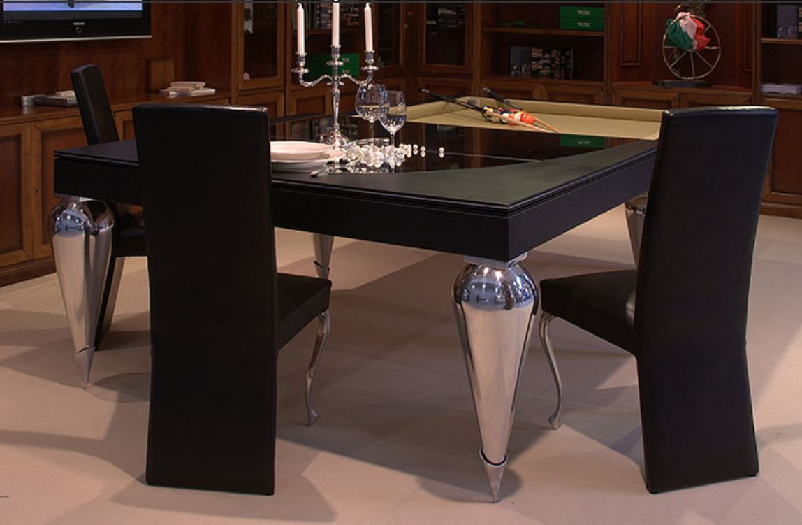 Transformer tables turn dining into billiard and ping-pong fun ...