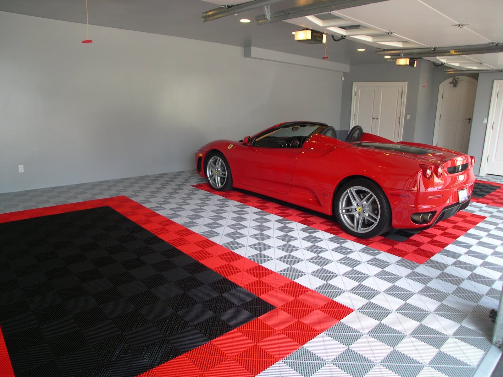 The garage floor to highlight your ride for In ground garage